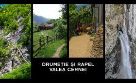 drumeție și rapel pe Valea Cernei